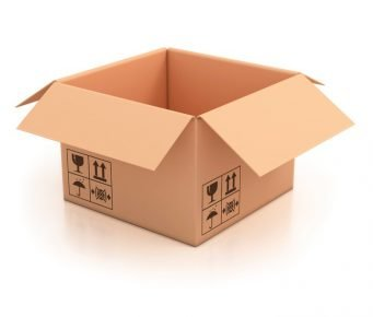 Cardboard box for a house